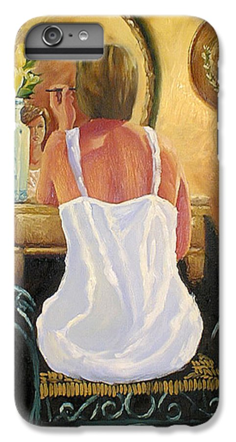 People IPhone 6 Plus Case featuring the painting La Coqueta by Arturo Vilmenay