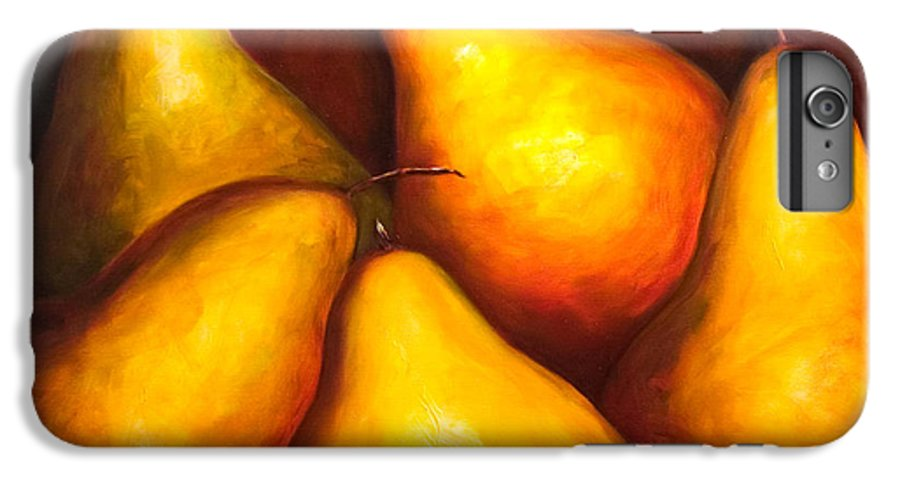 Still Life Yellow IPhone 6 Plus Case featuring the painting La Familia by Shannon Grissom