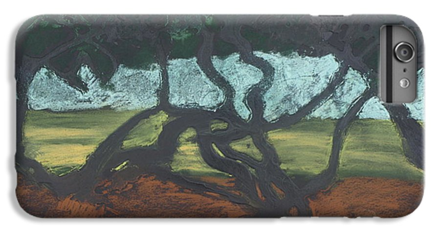 Contemporary Tree Landscape IPhone 6 Plus Case featuring the mixed media La Jolla II by Leah Tomaino