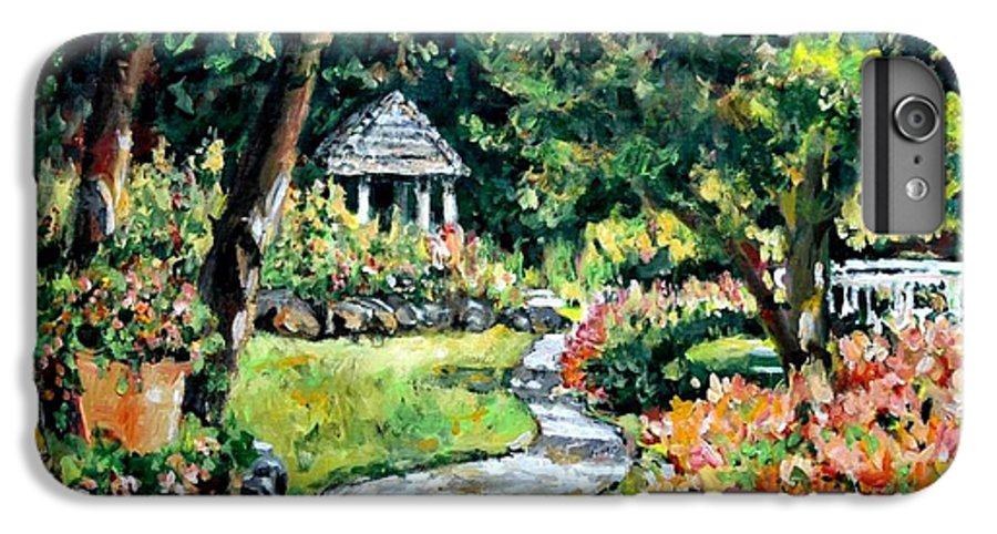Landscape IPhone 6 Plus Case featuring the painting La Paloma Gardens by Alexandra Maria Ethlyn Cheshire