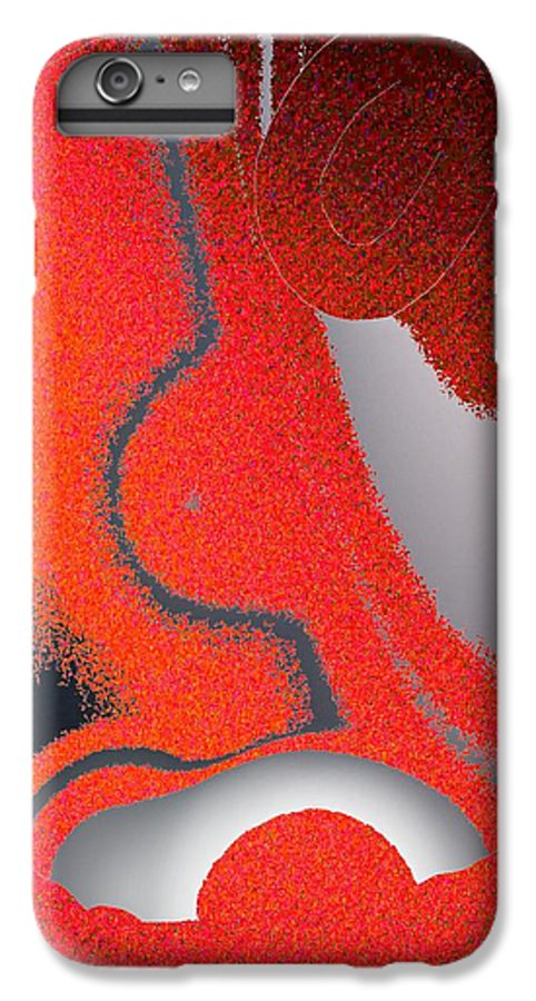 Abstract IPhone 6 Plus Case featuring the digital art Labremains by Pharris Art