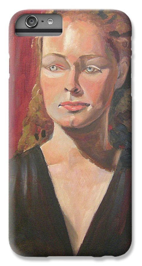 Portrait IPhone 6 Plus Case featuring the painting Lady Ann by Lilibeth Andre