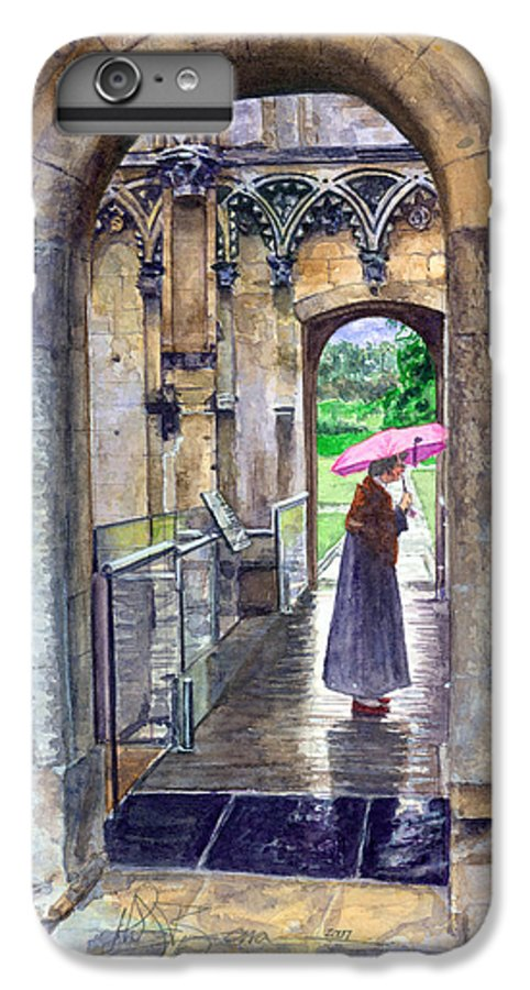 Glastonbury IPhone 6 Plus Case featuring the painting Lady Chapel by John D Benson