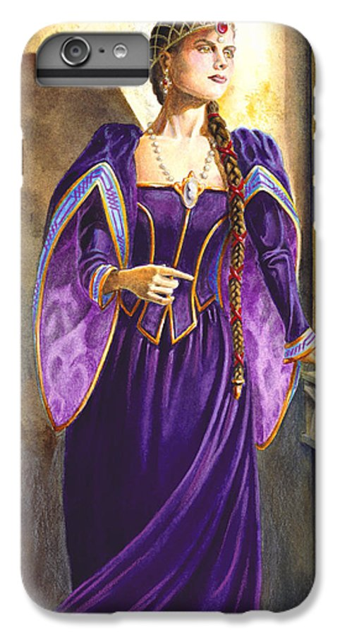 Camelot IPhone 6 Plus Case featuring the painting Lady Ettard by Melissa A Benson