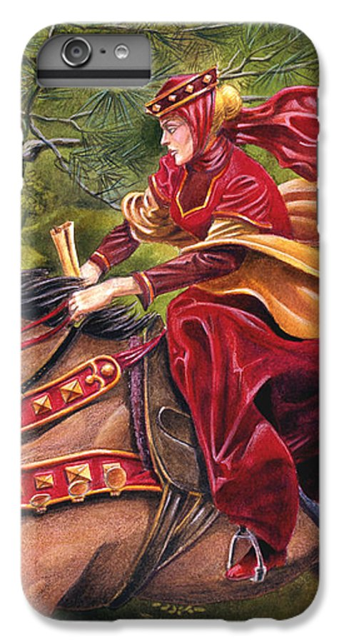 Camelot IPhone 6 Plus Case featuring the painting Lady Lunete by Melissa A Benson