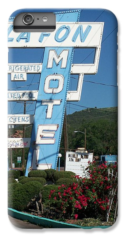 Vintage Motel Signs IPhone 6 Plus Case featuring the photograph Lafon Motel by Anita Burgermeister