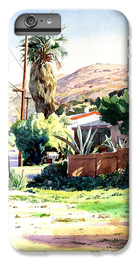 Watercolor IPhone 6 Plus Case featuring the painting Laguna Canyon Palm by John Norman Stewart