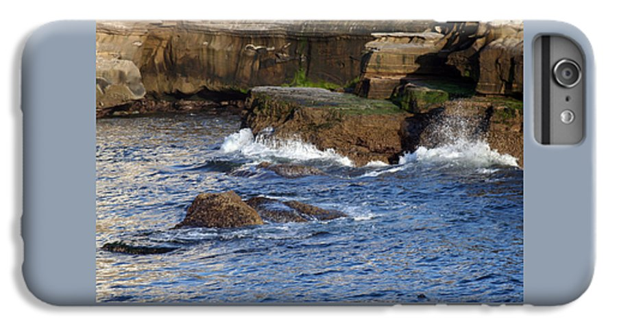 Ocean IPhone 6 Plus Case featuring the photograph Lajolla Rocks by Margie Wildblood