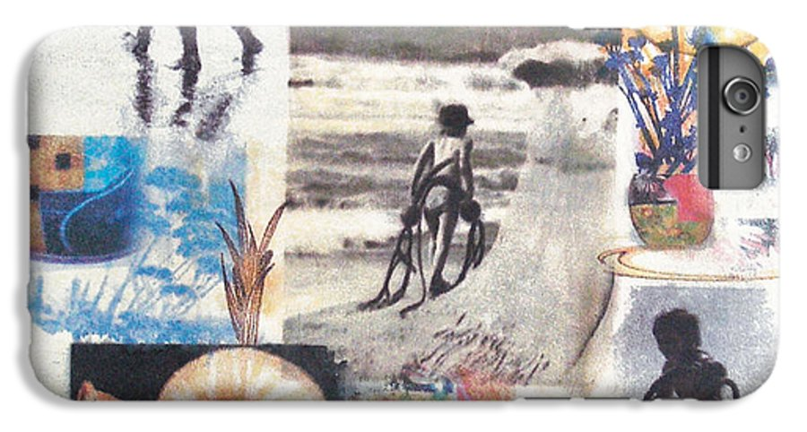 Abstract IPhone 6 Plus Case featuring the painting Lajolla by Valerie Meotti