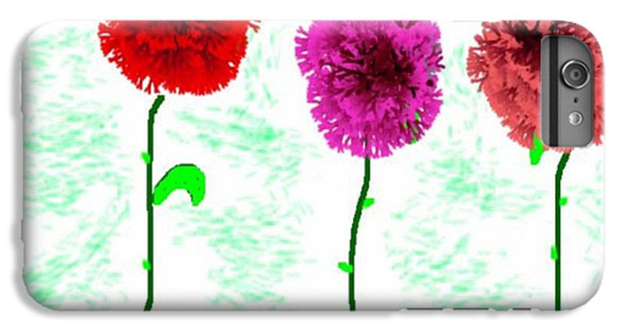 Flowers IPhone 6 Plus Case featuring the digital art Language Of Flowers by Dr Loifer Vladimir