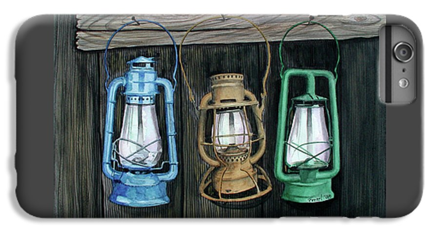 Lanterns IPhone 6 Plus Case featuring the painting Lanterns by Ferrel Cordle
