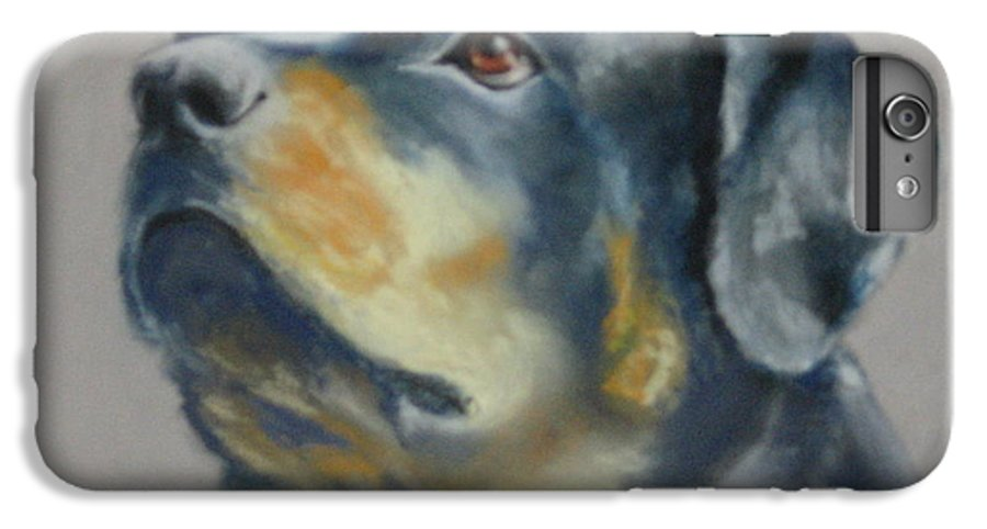 Dog IPhone 6 Plus Case featuring the painting Lars by Carol Mueller
