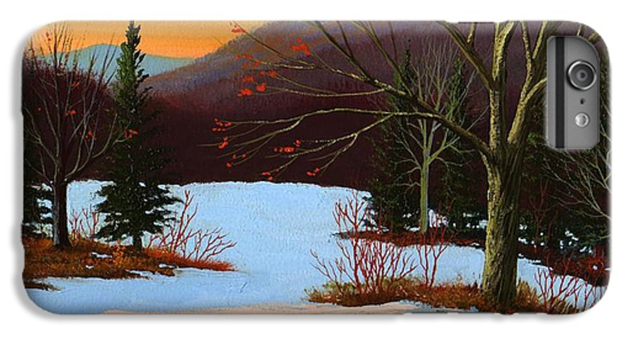 Winter IPhone 6 Plus Case featuring the painting Last Light Of Day by Frank Wilson