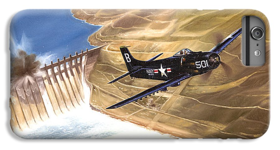 Military IPhone 6 Plus Case featuring the painting Last Of The Dambusters by Marc Stewart