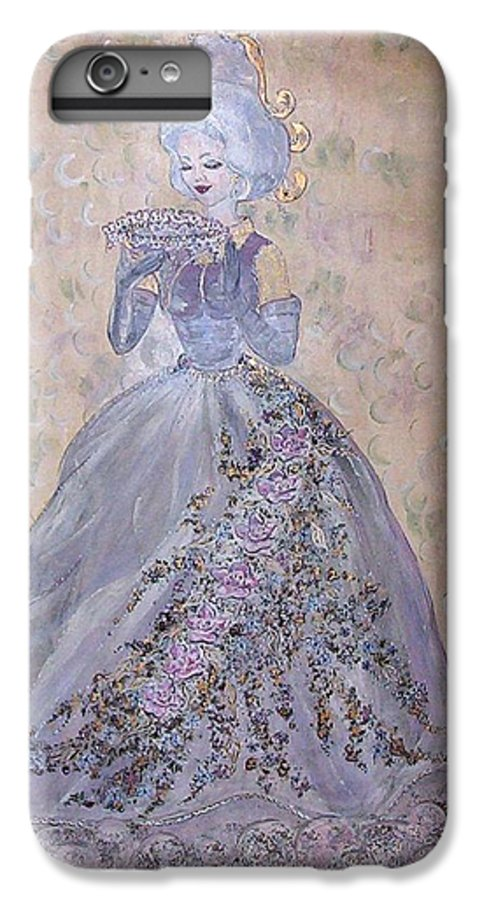 Still Life IPhone 6 Plus Case featuring the painting Lavender Lady by Phyllis Mae Richardson Fisher