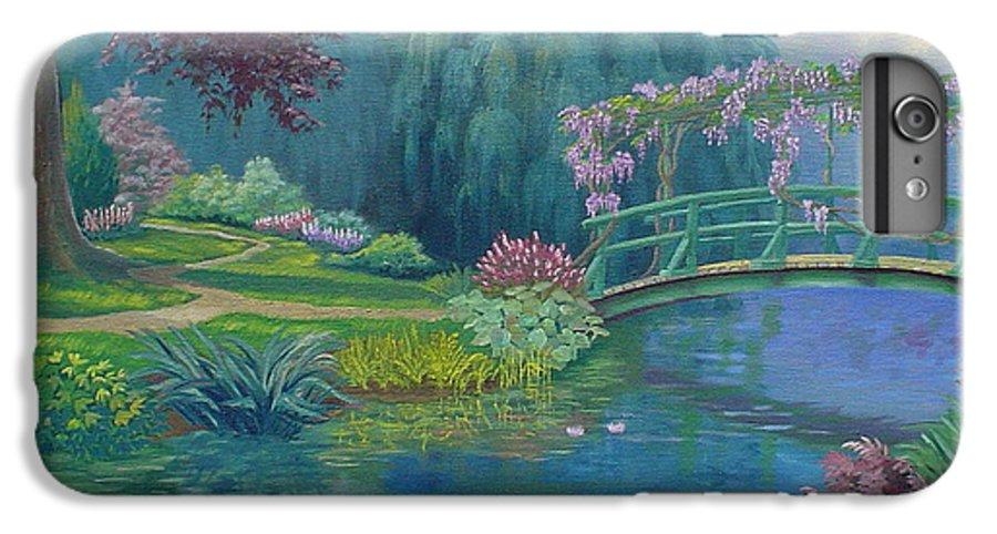 Landscape IPhone 6 Plus Case featuring the painting Le Pont Japonais by Tan Nguyen