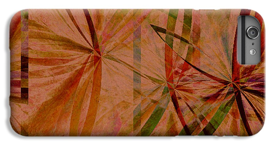 Abstract IPhone 6 Plus Case featuring the digital art Leaf Dance by Ruth Palmer