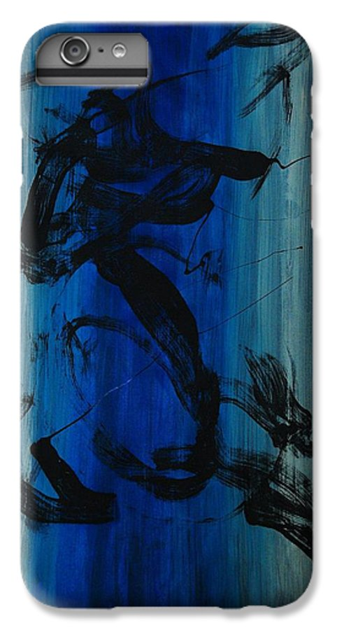 Acrylic IPhone 6 Plus Case featuring the painting Leap Of Love by Lauren Luna