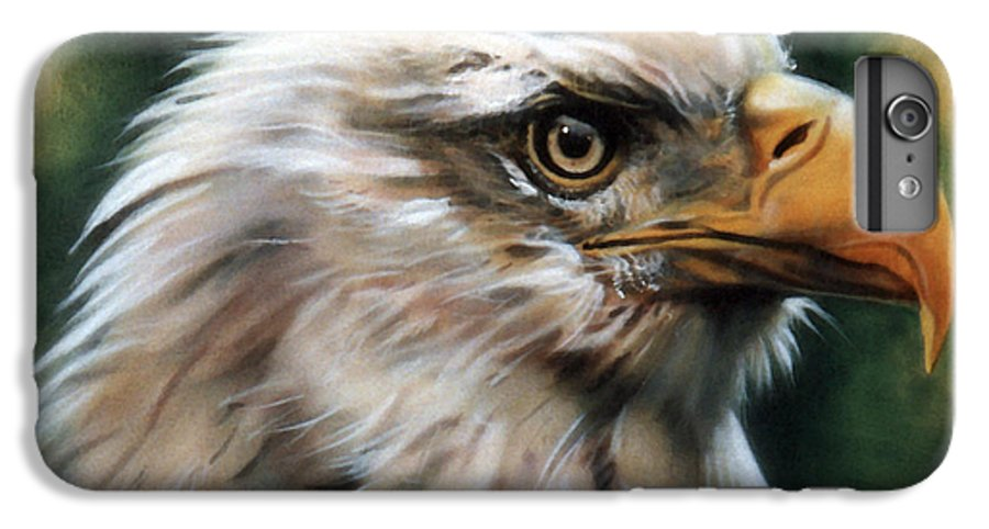 Southwest Art IPhone 6 Plus Case featuring the painting Leather Eagle by J W Baker