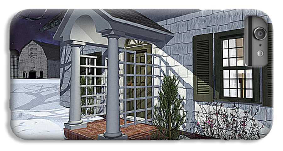 Porch IPhone 6 Plus Case featuring the photograph Leave The Porch Light On by Peter J Sucy