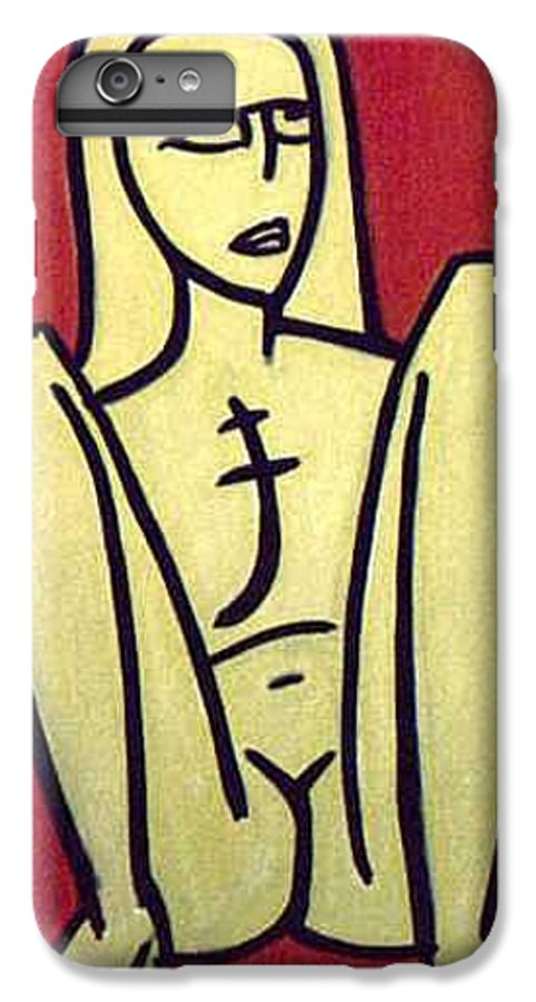 Nude IPhone 6 Plus Case featuring the painting Legs by Thomas Valentine