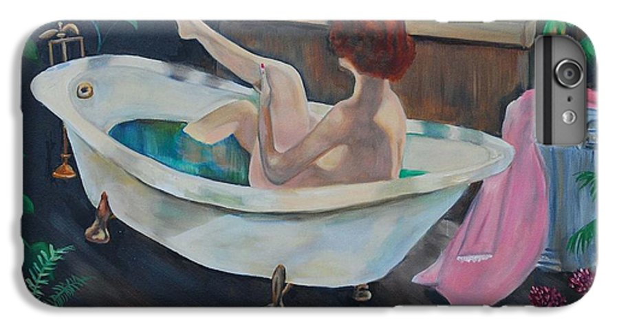 Country IPhone 6 Plus Case featuring the painting Leisure Time by Margaret Fortunato