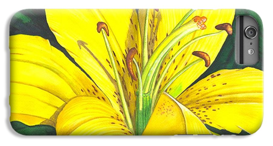 Lily IPhone 6 Plus Case featuring the painting Lemon Lily by Catherine G McElroy