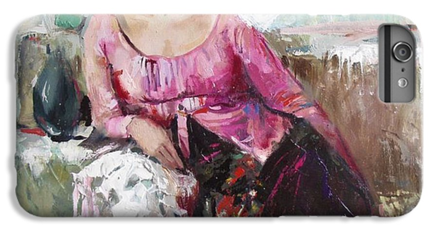 Ignatenko IPhone 6 Plus Case featuring the painting Lera by Sergey Ignatenko