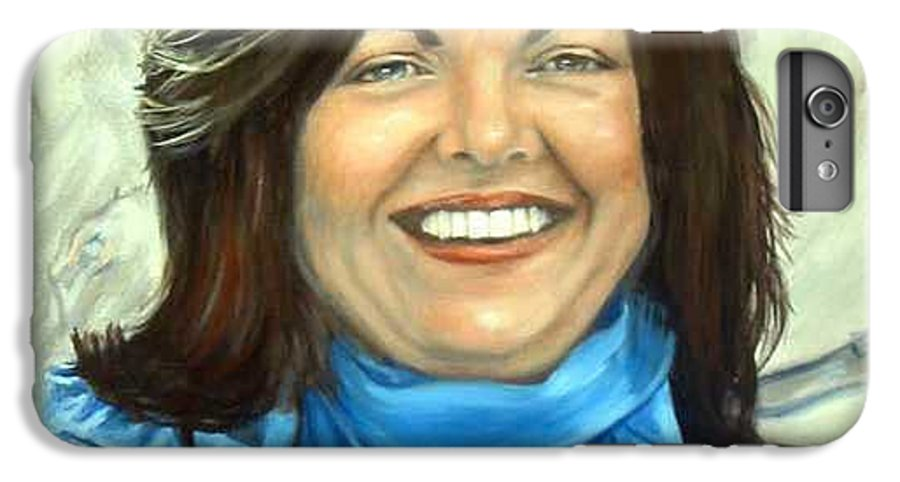 IPhone 6 Plus Case featuring the painting Leslie Eliason by Anne Kushnick