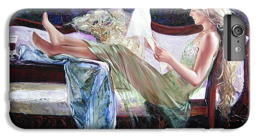 Figurative IPhone 6 Plus Case featuring the painting Letter From Him by Sergey Ignatenko