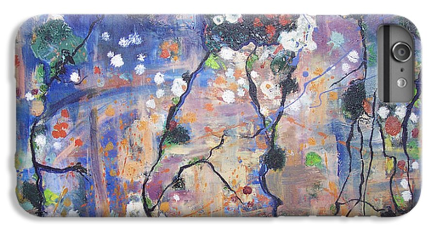 Lichen Paintings IPhone 6 Plus Case featuring the painting Lichen by Seon-Jeong Kim