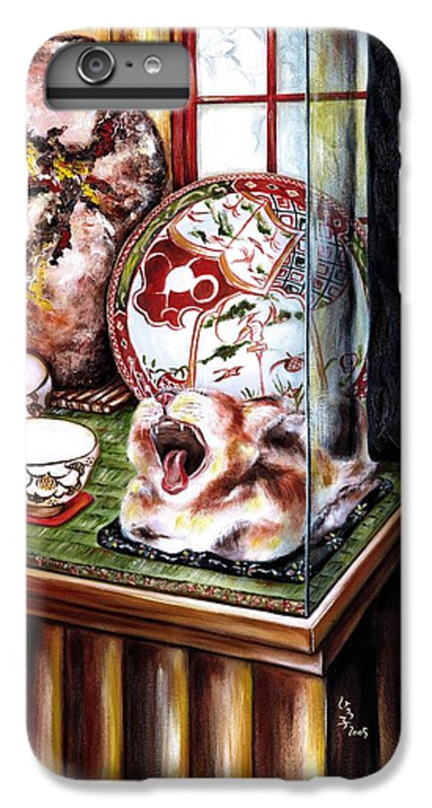 Cat IPhone 6 Plus Case featuring the painting Life Is Beautiful by Hiroko Sakai