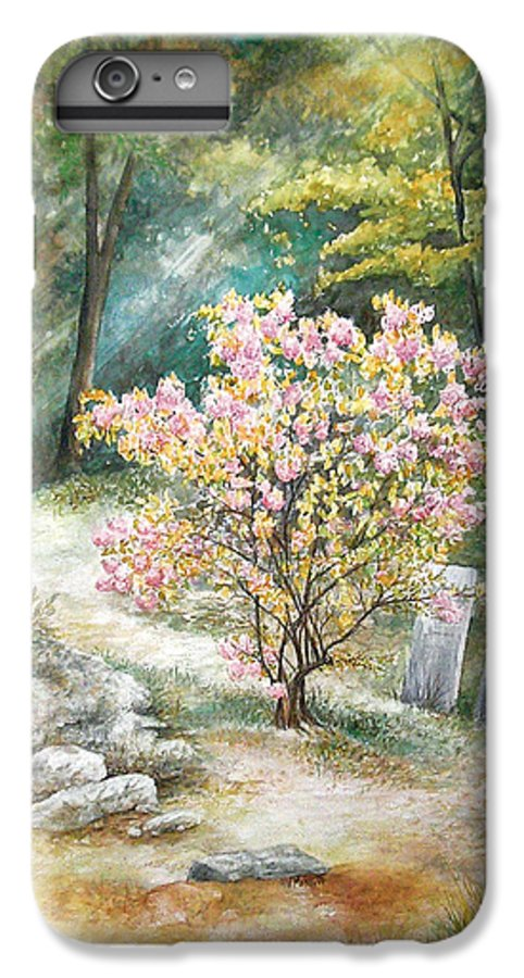 Landscape IPhone 6 Plus Case featuring the painting Life by Valerie Meotti