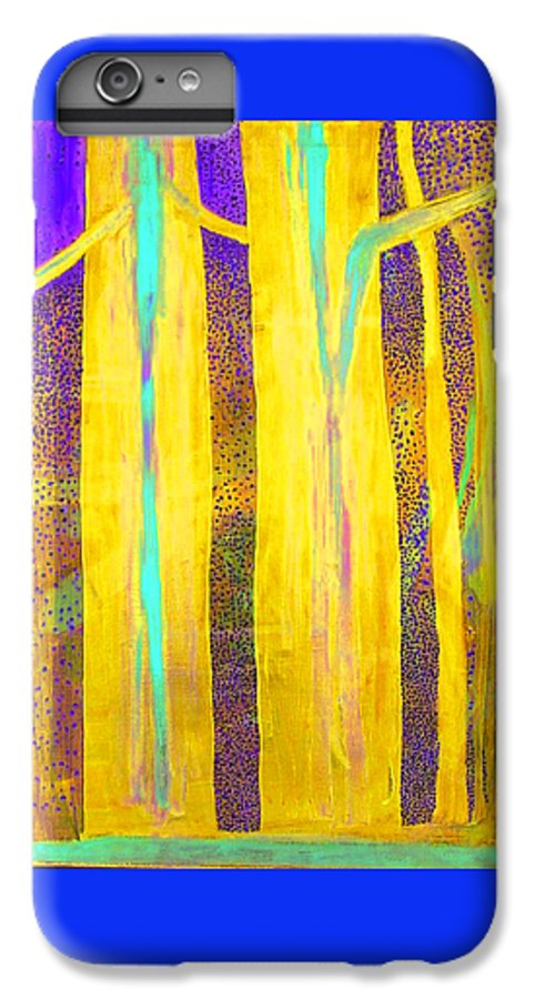 IPhone 6 Plus Case featuring the painting Light In The Forest by Jarle Rosseland