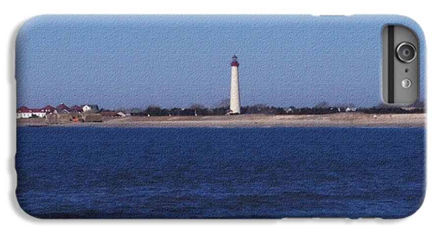 Lighthouse IPhone 6 Plus Case featuring the photograph Lighthouse At The Point by Pharris Art
