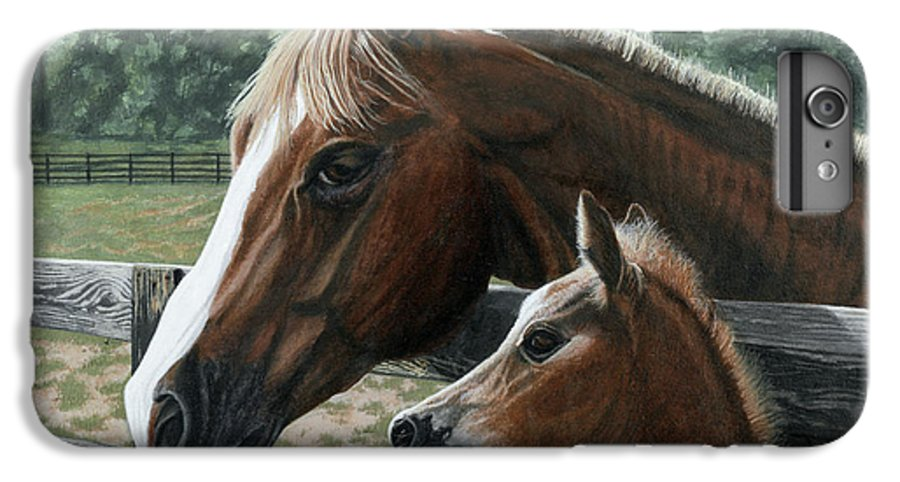 Landscape IPhone 6 Plus Case featuring the painting Like Father Like Son by Peter Muzyka