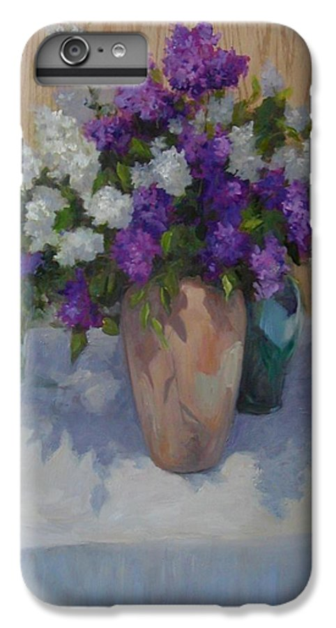 Lilacs IPhone 6 Plus Case featuring the painting Lilacs by Patricia Kness