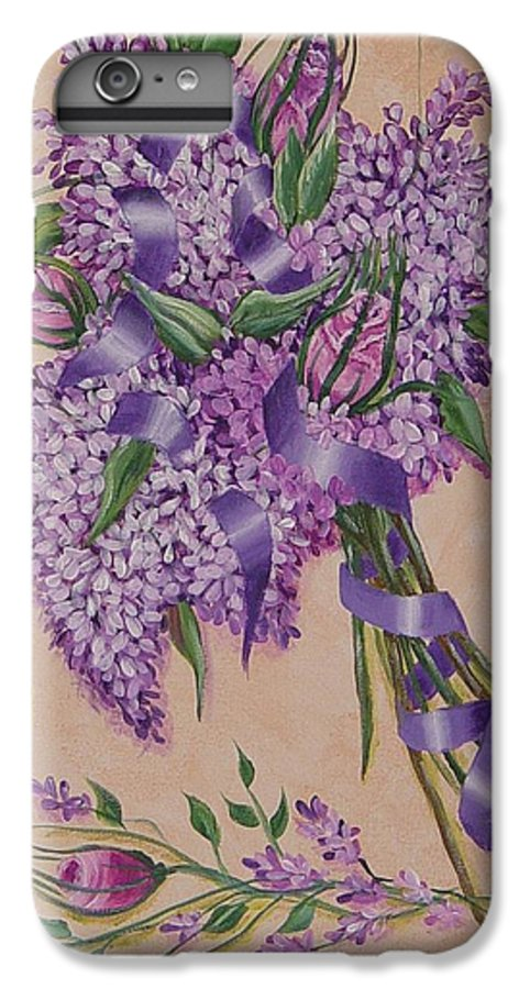 Lilacs IPhone 6 Plus Case featuring the painting Lilacs by Quwatha Valentine
