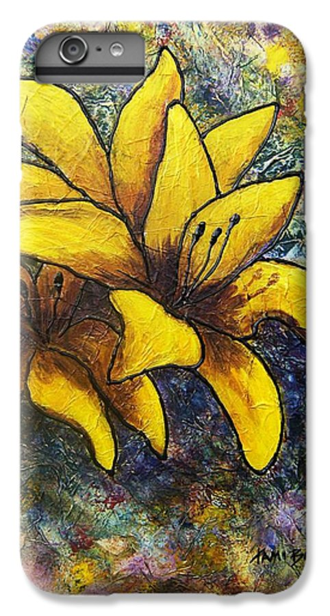 Flowers IPhone 6 Plus Case featuring the painting Lilies by Tami Booher