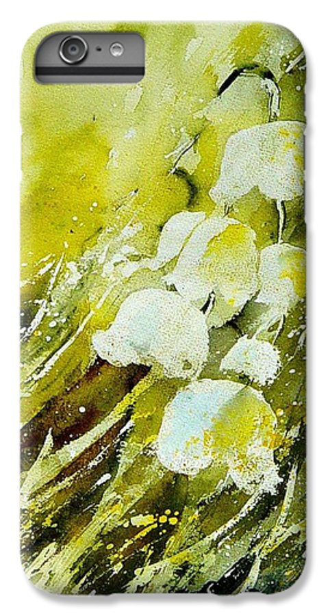 Flowers IPhone 6 Plus Case featuring the painting Lilly Of The Valley by Pol Ledent