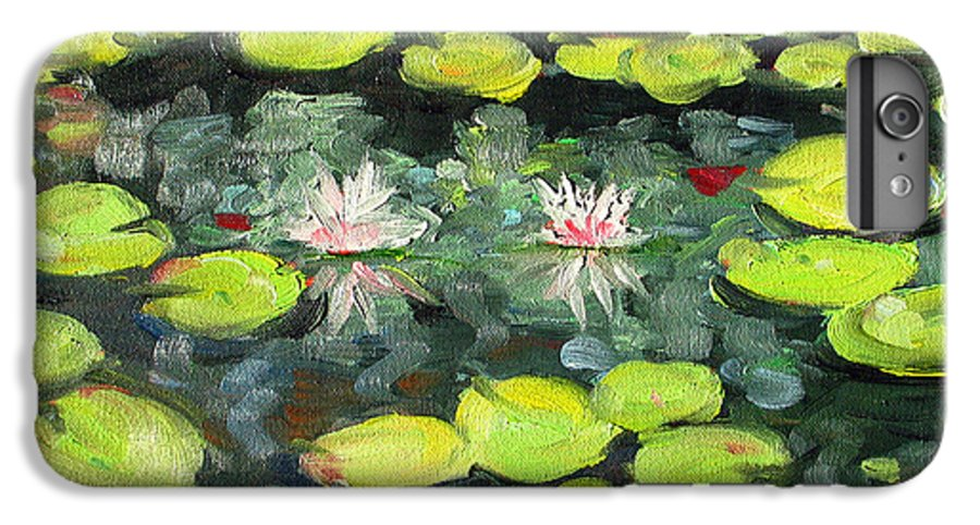 Pond IPhone 6 Plus Case featuring the painting Lily Pond by Paul Walsh