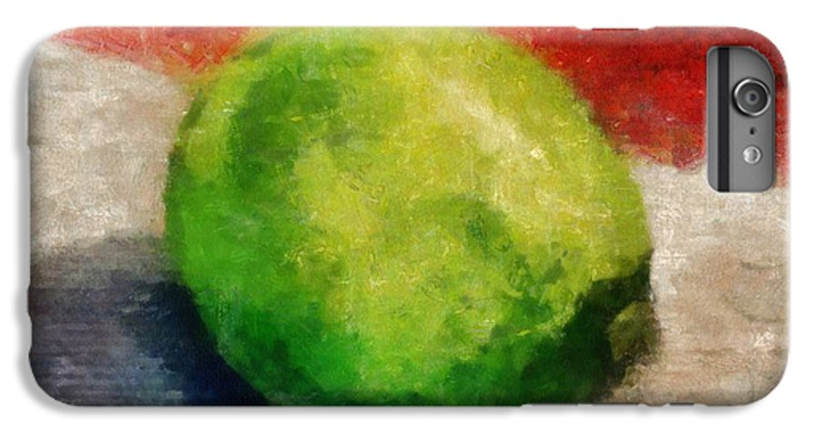 Lime IPhone 6 Plus Case featuring the painting Lime Still Life by Michelle Calkins