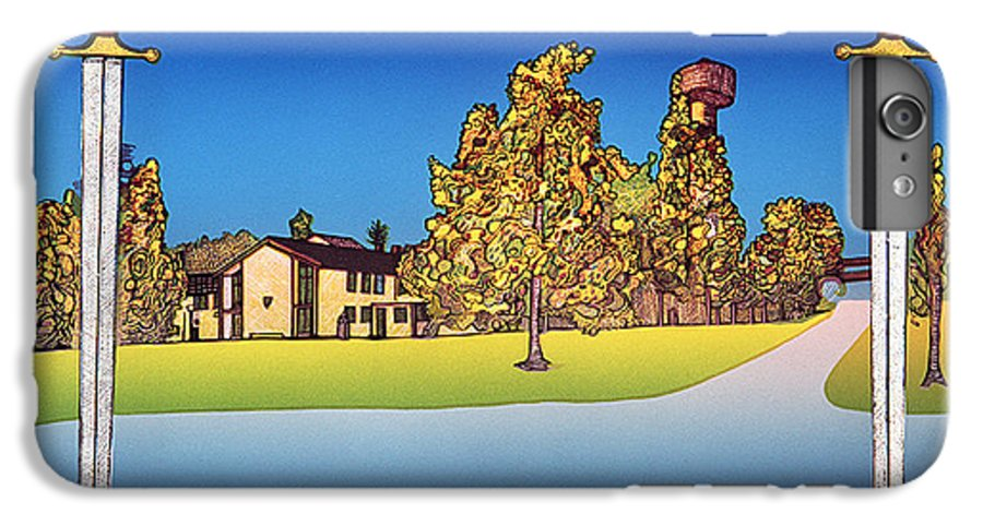 Landscape IPhone 6 Plus Case featuring the mixed media Linderud by Jarle Rosseland