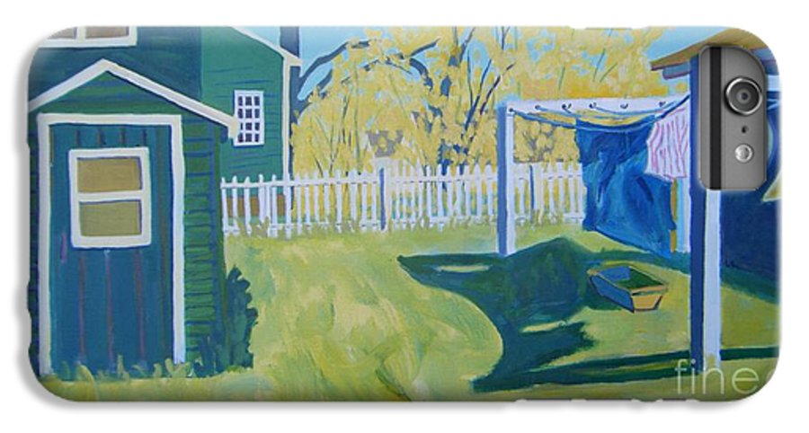Backyard IPhone 6 Plus Case featuring the painting Line Of Wash by Debra Bretton Robinson