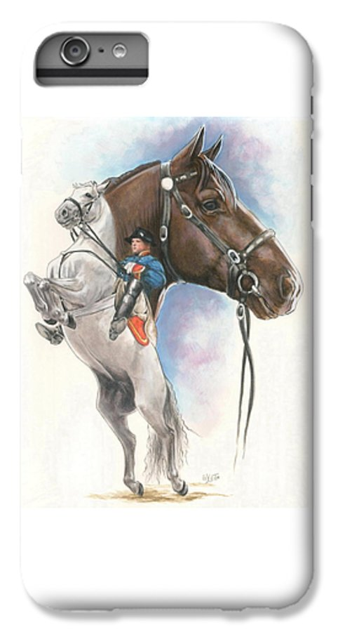 Spanish Riding School IPhone 6 Plus Case featuring the mixed media Lippizaner by Barbara Keith