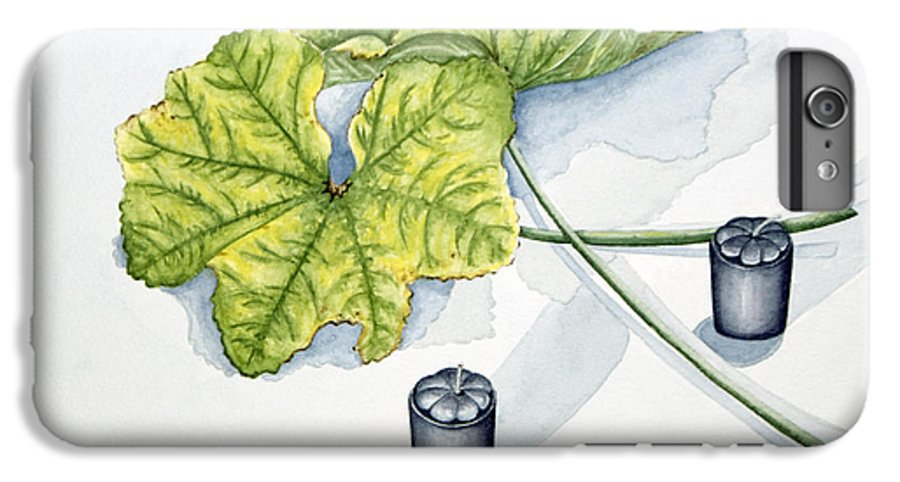 Candles IPhone 6 Plus Case featuring the painting Little Black Candles by Judy Henninger