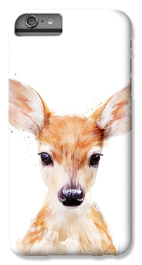 Fawn IPhone 6 Plus Case featuring the painting Little Deer by Amy Hamilton