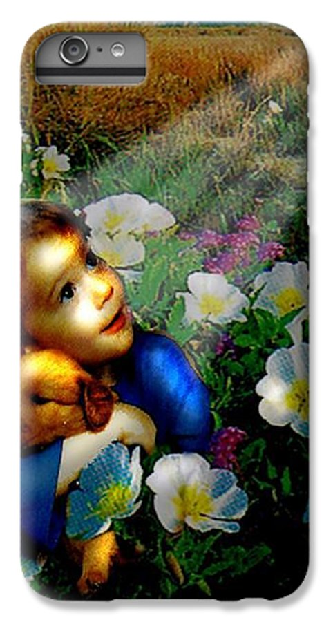 A Small Boy Loses His Puppy. Searches All Day. Finds Sick Puppy In The Rain. Now Both Are Lost Until IPhone 6 Plus Case featuring the digital art Little Dog Lost by Seth Weaver
