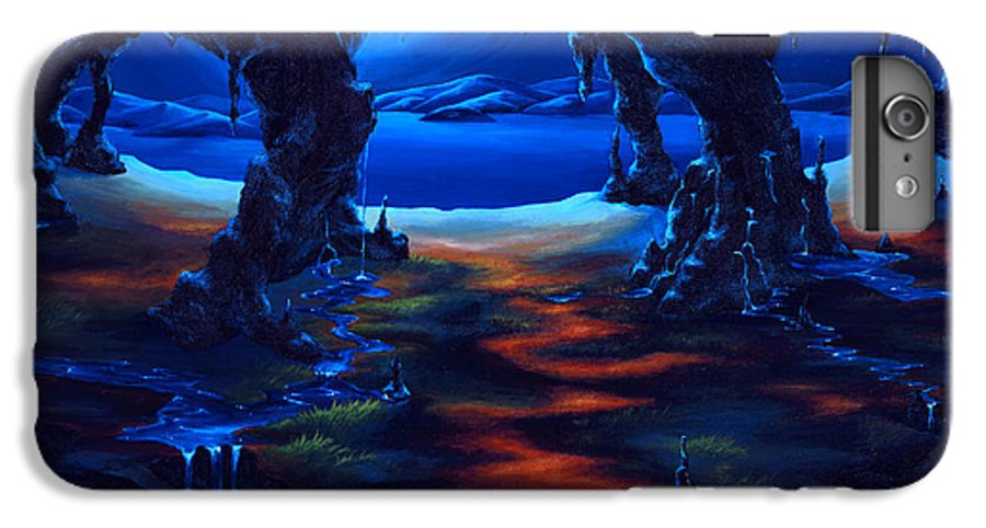 Textured Painting IPhone 6 Plus Case featuring the painting Living Among Shadows by Jennifer McDuffie