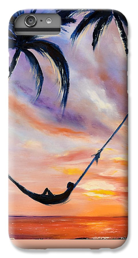 Sunset IPhone 6 Plus Case featuring the painting Living The Dream by Gina De Gorna
